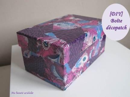 Miniature DIY boîte décopatch