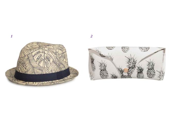 accessoires tendance tropicale été chaussures sac chapeau 2