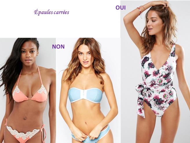 épaules carrées choisir son maillot de bain bikini