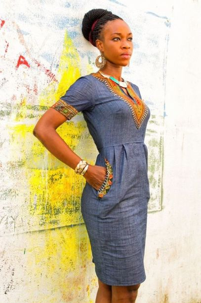 robe jean chic