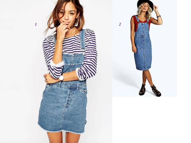 robes en jean salopette tendance printemps été 2016