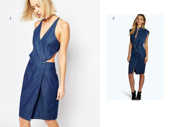robes en jean séduisantes découpe décolleté printemps été 2016 tendance.pptx