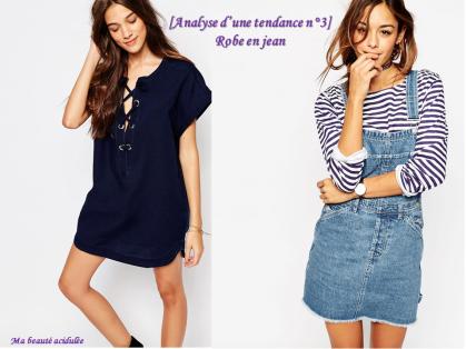 robes en jean tendance printemps été 2016 mode vêtements conseil