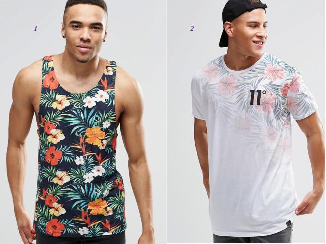 tendance tropicale mode été homme tshirt short 1