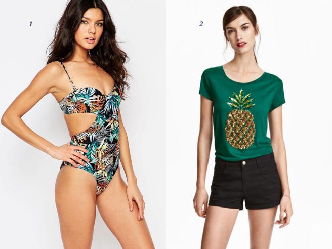 vêtements tendance tropical exotique palmier fleur feuillage été mode 1