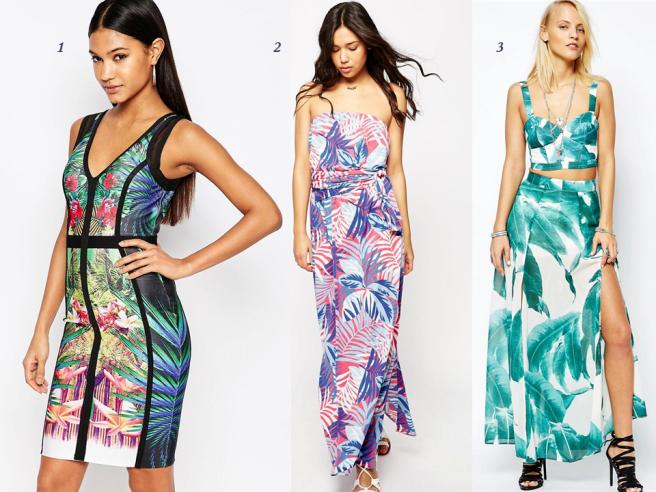 vêtements tendance tropical exotique palmier fleur feuillage été mode 4
