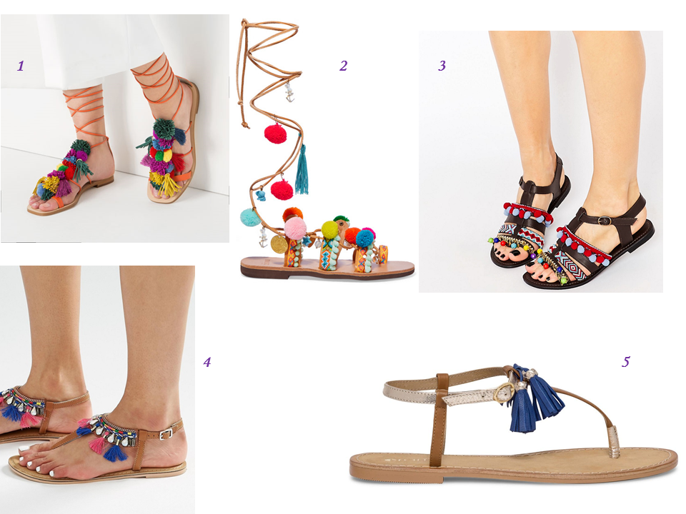 zara chaussures pompon