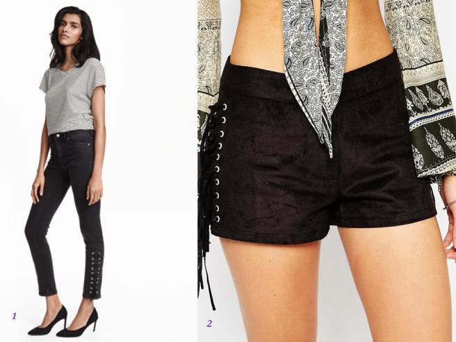 pièces tendance vêtements lacets laçage mode 2016 pantalon short