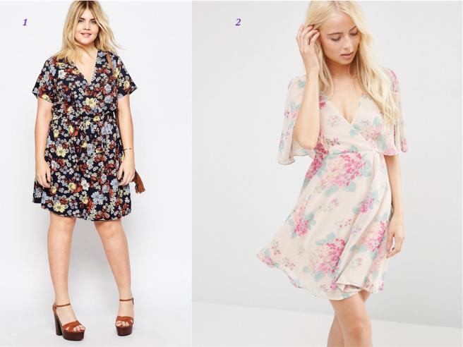 robe fleurie petite et ronde tendance mode été