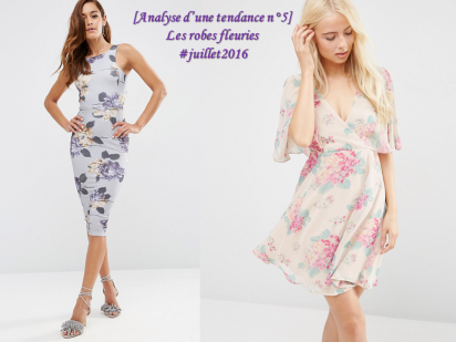 robes fleuries tendance mode presentation