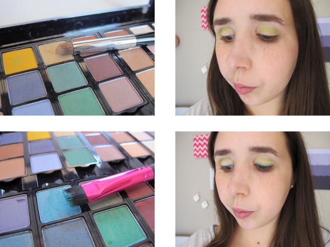 étapes maquillage msc vert chartreuse tutoriel 2