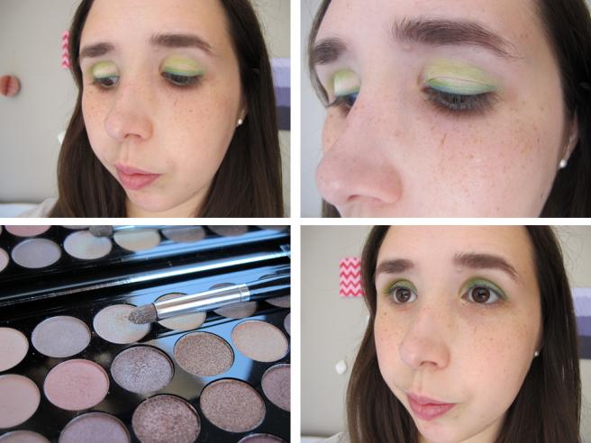 étapes maquillage msc vert chartreuse tutoriel 3