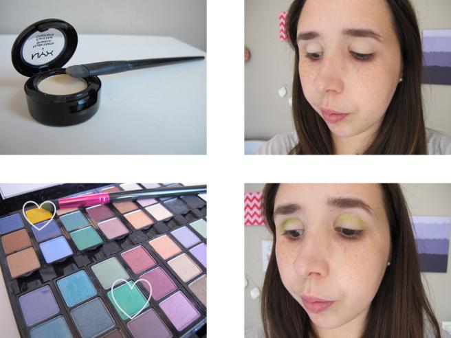 étapes maquillage msc vert chartreuse tutoriel