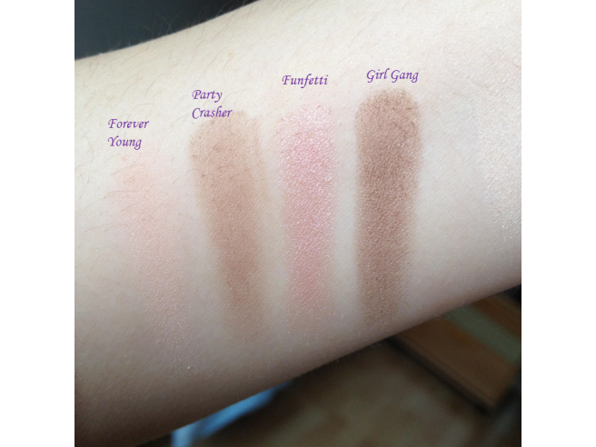 swatch palette funfetti too faced ligne 2