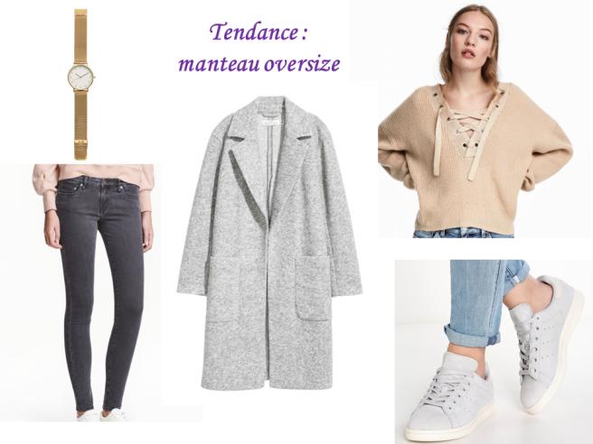 looks d'automne tendance manteau oversize
