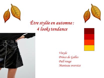 looks d'automne tendance mode
