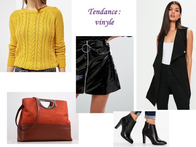 looks d'automne tendance vinyle