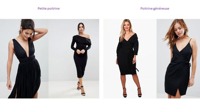 comment choisir sa petite robe noire conseil décolleté