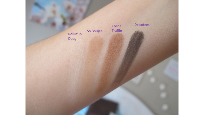 swatch palette Chocolate Gold Too Faced mat
