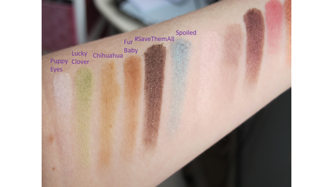 Swatch palette clover too faced 1