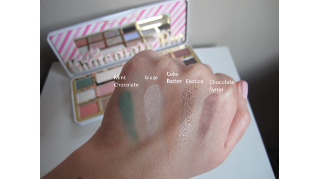 swatch palette White Chocolate Bar too faced 1
