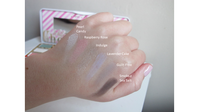swatch palette White Chocolate Bar too faced 2