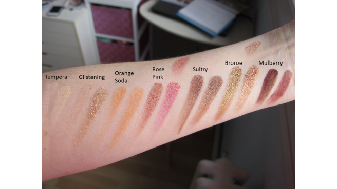 comparaison dupe soft glam bh cosmetics swatch 1