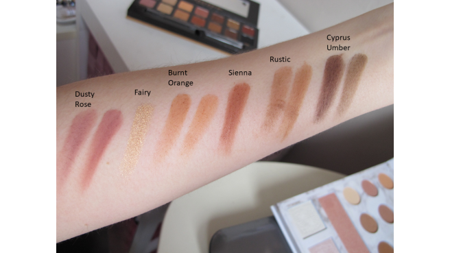 comparaison dupe soft glam bh cosmetics swatch 2
