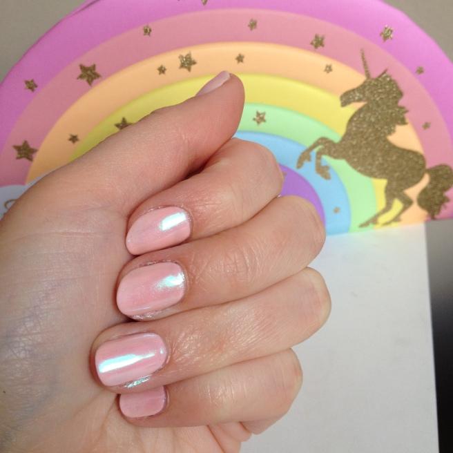ongles holographiques le mini macaron kitticorn kit semi permanent