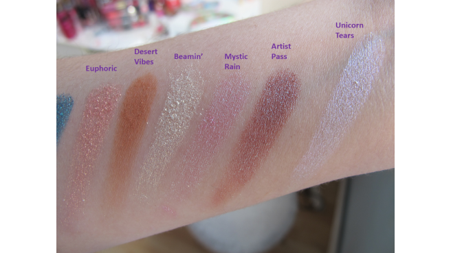 Swatch palette Life's a festival too faced 2