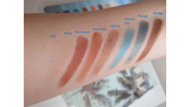 swatch palette beached urban decay