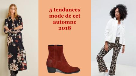 tendance automne hiver 2018 mode leopard pantalons jeans à galons longue robe fleurie santiag pull color block