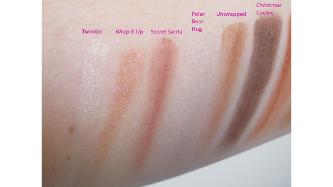 Swatch palette Dream Queen Too Faced coffret 1