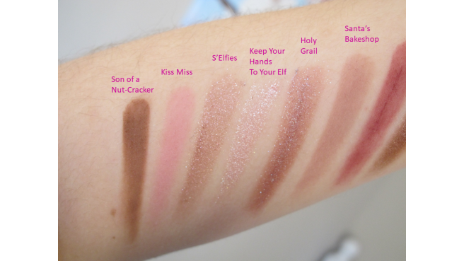 Swatch palette Dream Queen Too Faced coffret 3